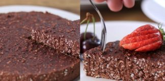 Шоколадный кекс без выпечки