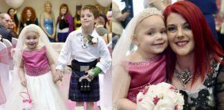 Девочка со смертельной болезнью попросила родителей организовать ей сказочную свадьбу