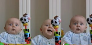 Ребенка рассмешил мамин насморк
