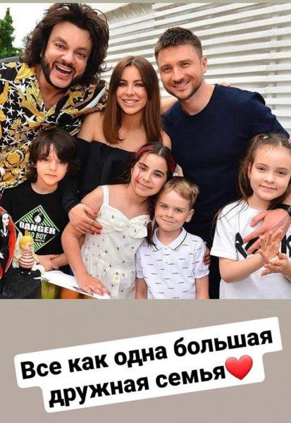 Филипп Киркоров, Ани Лорак и Сергей Лазарев с детьми