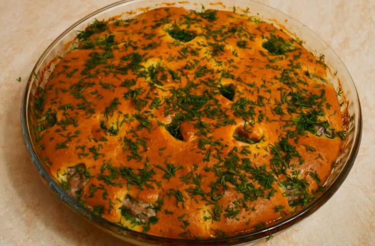 Сочный мясной пирог с вкусным тестом