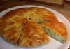 Простой пирог с картофельным пюре