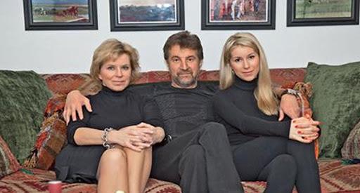 Леонід Ярмольник з дружиною Оксаною і дочкою