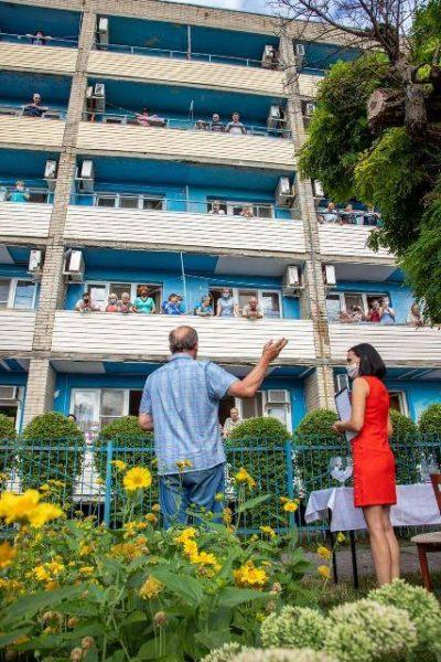 Встреча Федора с постояльцами дома престарелых в Таганроге