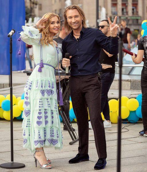 Таюне и Олег на концерте ко Дню независимости Украины