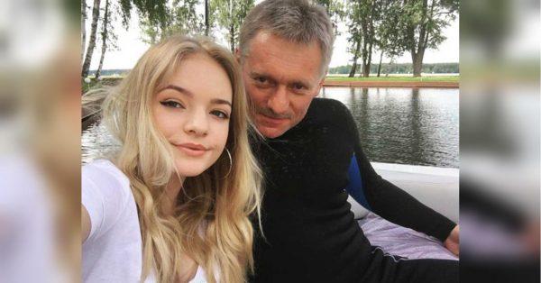 Елизавета Пескова с папой на отдыхе