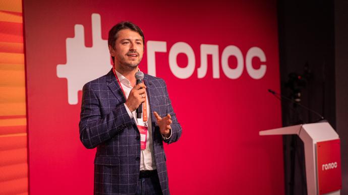 Сергій Притула на з'їзді Голоси