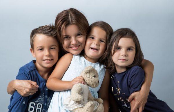Маричка Падалко со своим детьми