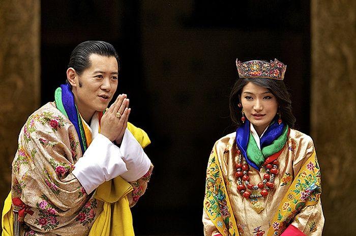 Король Бутану і Джецун Пема