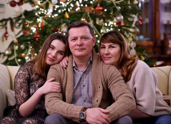 Олег Ляшко с женой и дочерью