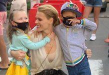 Ольга Фреймут з молодшими дітьми