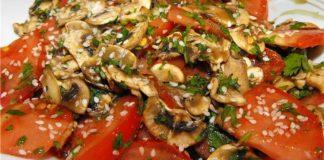 Салат-закуска из помидор