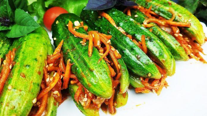 Огірки в корейському стилі