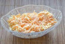 Салат з капусти + морква + плавлений сирок