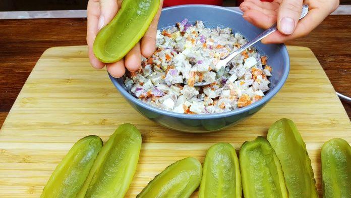 Салат з оригінальною подачею