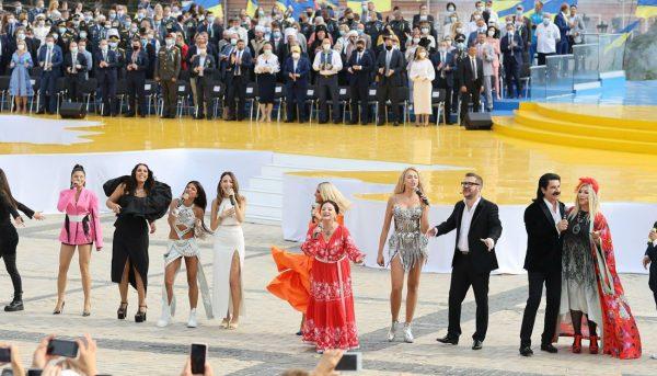 Выступление ко Дню независимости Украины