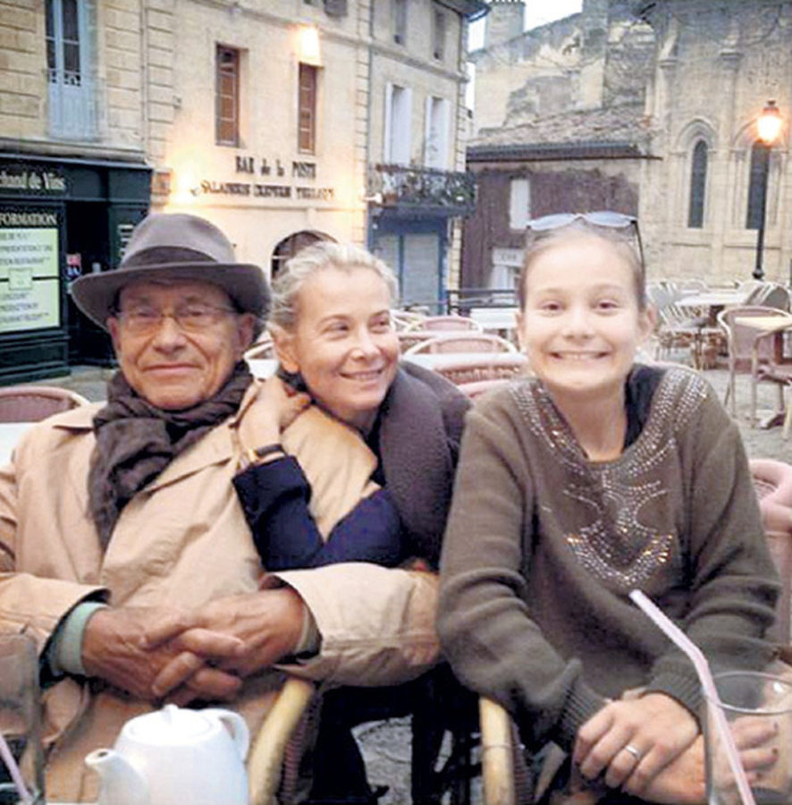 Маша Кончаловская с родителями
