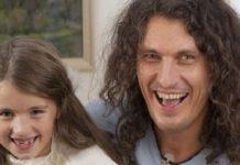 Архівне фото Кузьми з донькою