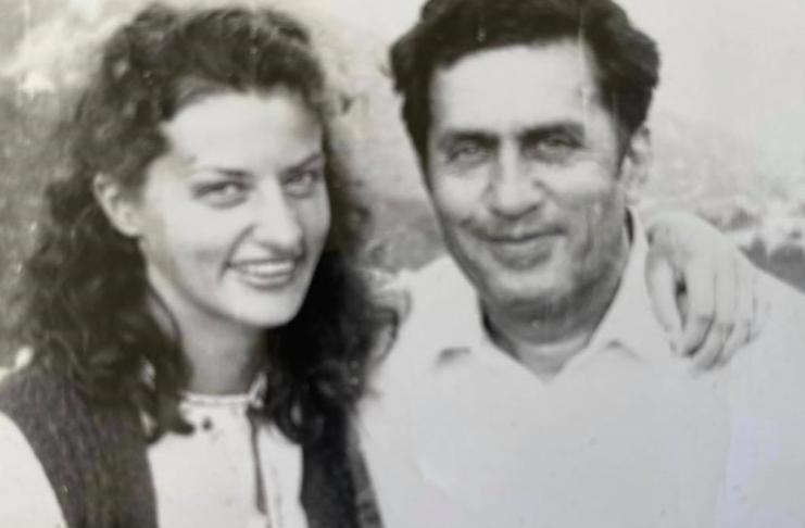 Марина Порошенко с отцом Анатолием Переведенцевым