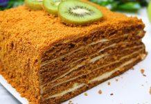 Торт «Медовик» без розкочування коржів