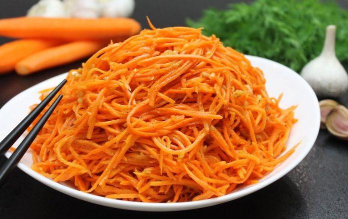 Морква по-корейськи за 5 хвилин
