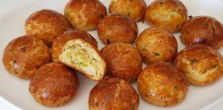 Турецкие булочки с сыром фета и зеленью