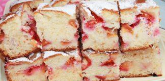 Пирог на скорую руку со сливами