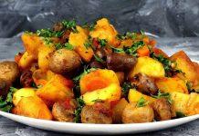 Картофель с сердечками