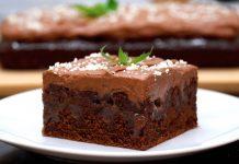 Шоколадно-кофейный пирог: простой рецепт