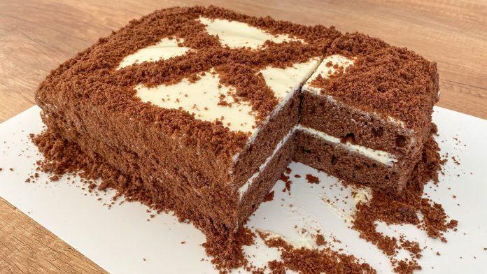 Супер шоколадний пиріг до чаю