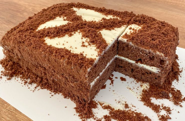 Супер шоколадный пирог к чаю
