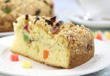 Пирог с орехами, изюмом и цукатами