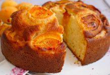Пирог с фруктами на кефире