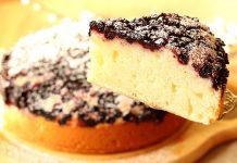 Пишний пиріг на кефірі з ягодами