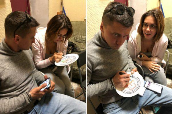Павел и Агата в начале съемок сериала «В клетке» еще до развода