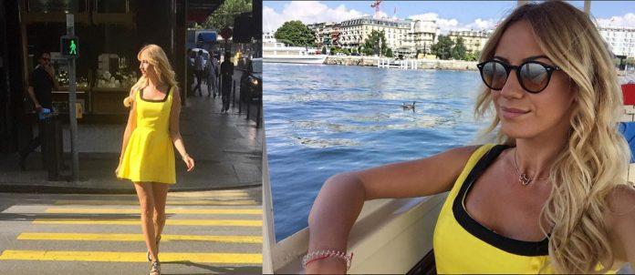 Леся Никитюк розкинула довгі ноги на сіннику