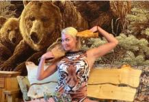 Волочкова в постолах з трьома ведмедями