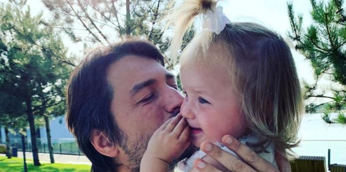 Сергей Притула с дочкой