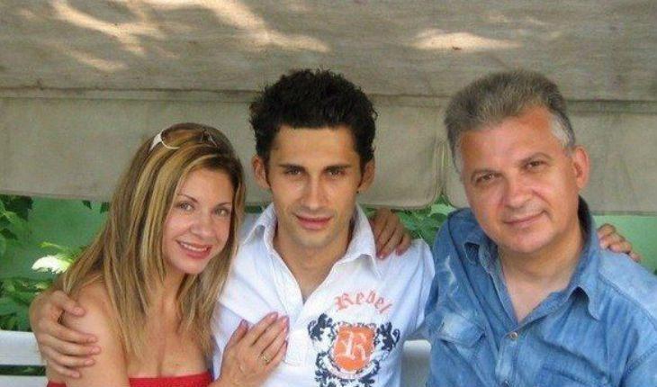 Дан Балан з батьками