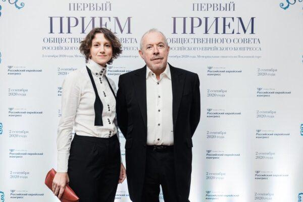 Макаревич и Кляйн на торжественном приеме