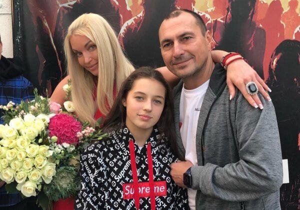 Ариадна с родителями