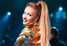 Оля Полякова засвітила свою тонку талію під силіконовою сукнею