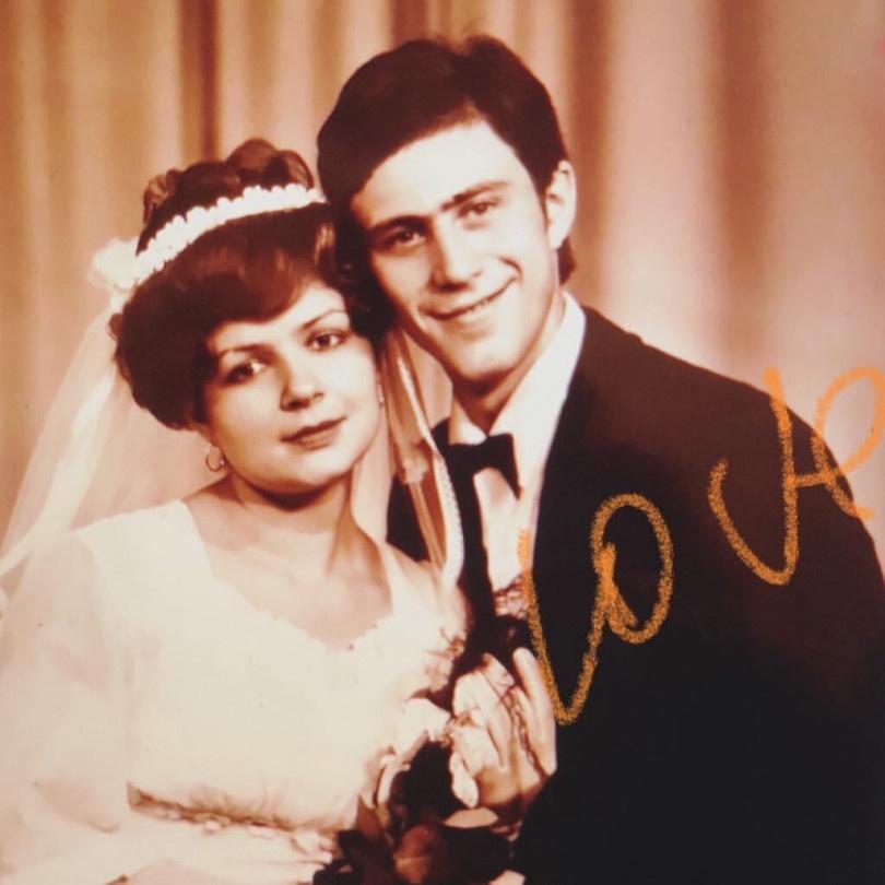 Весільне фото батьків Тіни Кароль