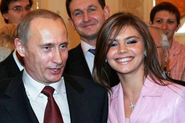 Кабаева и Путин в 2008 году