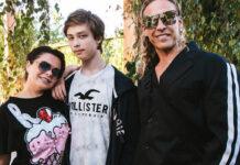 Наташа Корольова і Тарзан з сином Архипом