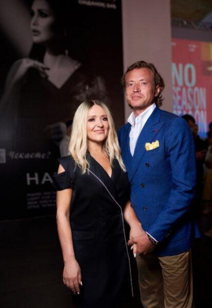 Наталя Могилевська і Олег Рижов на закриття київської тижні моди