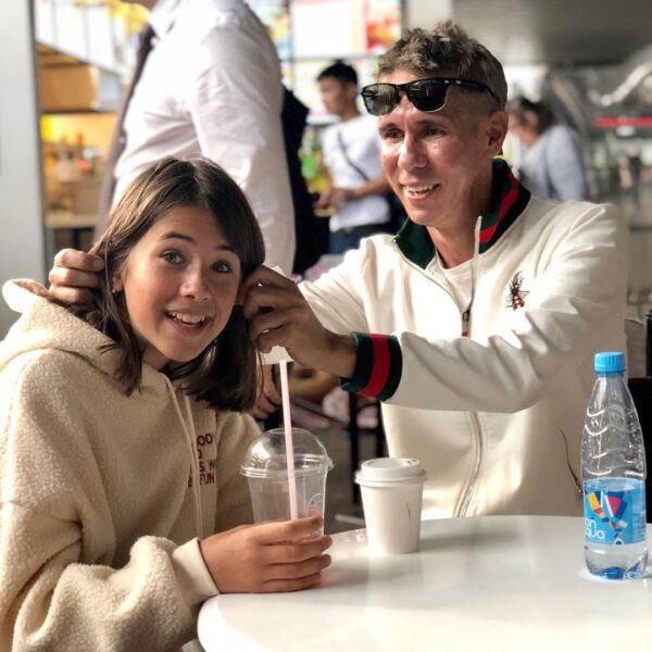 Алексей Панин с дочкой Аней