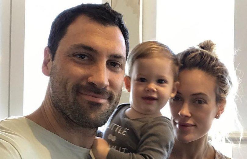 Максим с женой и сыном