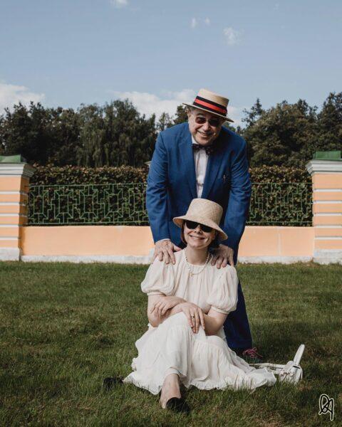 Євген Петросян з молодою дружиною Тетяною