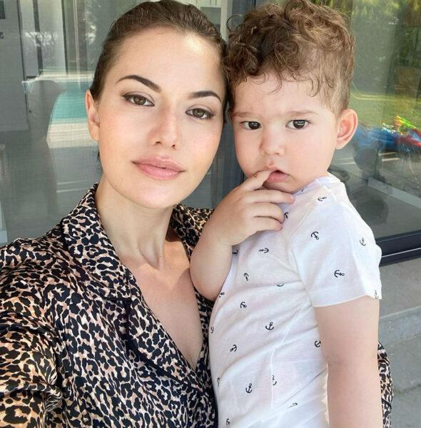Фахрие Эвджен с сыном Караном